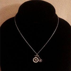 Jewelry - Gold Vintage Big Wheel Bike Necklace
